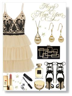 """""""Happy New Year by Little h Jewelry"""" by littlehjewelry ❤ liked on Polyvore featuring Alice + Olivia, ALDO, Charlotte Olympia, Estée Lauder, Annick Goutal, Yves Saint Laurent, Bobbi Brown Cosmetics, partystyle, pearljewelry and nyestyle"""