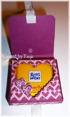 Stempeleinmaleins: Mini-RitterSport Verpackung