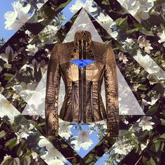 Our magic jacket Elekctra. Get inspired. #leatherjacket #gold #collage