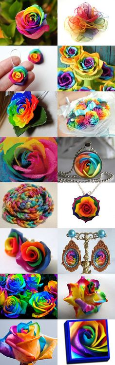 *~* rainbow rose *~* by Kady J Johnson on Etsy--Pinned with TreasuryPin.com