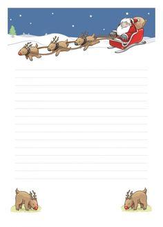 Papier à lettre Noël à imprimer à la maison librement