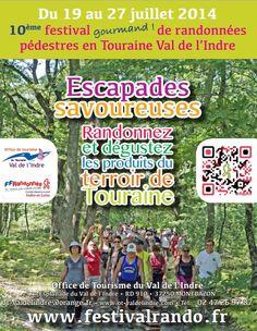 10ème édition du Festival de randonnées. Du 19 au 27 juillet 2014 à Montbazon.