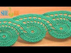 ▶ Lace Crochet Free Pattern Tutorial 9 Part 2 of 2 Crochet Lace Tape - YouTube