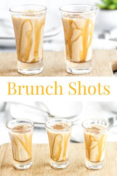 Brunch Shot Ready to turn up brunch? Move over mimosas and bloody Mary, the Brunch Shot is here! This shot is made to taste like french toast, perfect for brunch! Enjoy the taste of French Toast in a fun and whimsical breakfast shot! Party Drinks, Cocktail Drinks, Fun Drinks, Cocktail Recipes, Cocktails, Breakfast Alcoholic Drinks, Brunch Drinks, Alcoholic Beverages, Mixed Drinks