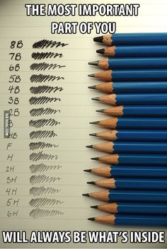 In case you ever wondered what are the differences between pencils.
