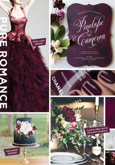 Pure Romance Wedding Invitation Inspiration Board by Wedding Paper Divas designer Stacey Day