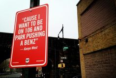 "Kanye West ~ Original song: ""All Falls Down"" by Kanye West Rap Quotes NYC street art project by Jay Shells"