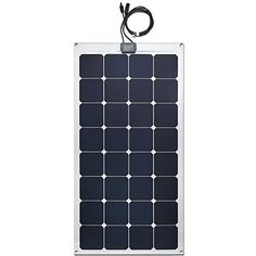 Lensun 100W 12V Semi-Flexible Monocrystalline Solar Panel for 12V Charge Battery on Boats, Caravans, Motorhomes, Yachts, RVs. Made with Grade A Mono cells, up to 23% high output efficiency. It has the smallest size of all solar panels with the same wattage commercially available on the market today. The panel uses a more expensive material (imported from Japan) called ETFE (Ethylene Tetrafluoroethylene) versus PET (Polyethylene terephthalate). The ETFE film layer absorbs light better with...