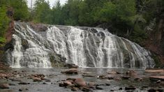 Lower Potato Falls Hiking Checklist, County Park, Beautiful Waterfalls, Round Trip, Lake Superior, Hiking Trails, Wisconsin, Potatoes, Adventure