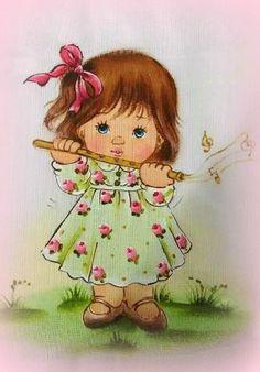 ♥ Cartoon Pics, Girl Cartoon, Cartoon Drawings, Human Painting, Drawing Scenery, Bullet Journal Lettering Ideas, Baby Drawing, Paint Cards, Cute Clipart