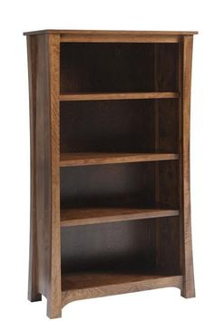 Amish Woodbury Executive Bookcase Add fine woodworking to your executive office furniture collection with a new Woodbury. Available in three sizes and numerous wood types and stain colors. #bookcase #executiveoffice