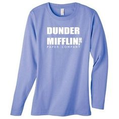 Amazon.com: DUNDER MIFFLIN PAPER COMPANY on Long Sleeve Women's Cotton T-Shirt (in 9 colors): Clothing