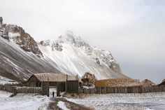 Viking village film set, a replica village built for a film that was never made. A 10 minute drive from Hofn, Iceland.