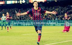 Leo Messi : Luchando Por Lo Que Mas Amo El Futbol .. | Frases Futboleras