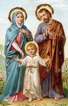 Jesus Mary Joseph Hear us, Help us. Save us. 200 days indulgence C. St Joseph Catholic, Jesus Mary And Joseph, Catholic Art, Catholic Saints, Saint Joseph, Roman Catholic, Madonna, Joseph In Egypt, Morel