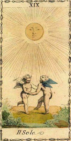 The Sun - Ancient Tarot of Lombardy