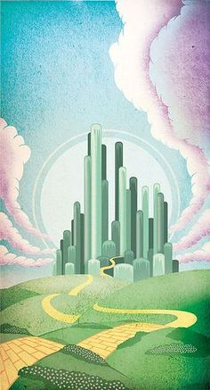 the emerald city the wizard of oz by one horse town via flickr