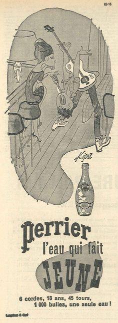 La Croix. 17 mai 1962. Perrier, l'eau qui fait jeune!