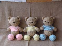 Teddys en tres colores