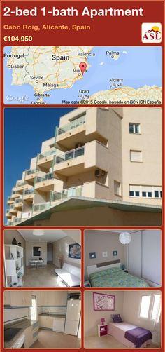 2-bed 1-bath Apartment in Cabo Roig, Alicante, Spain ►€104,950 #PropertyForSaleInSpain