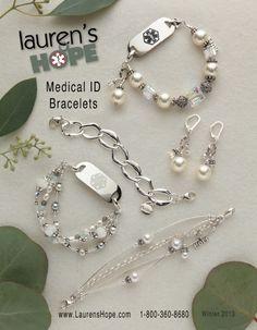 Stylish medical alert bracelets for all ages...