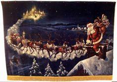 Lg Painting on Velvet Santa Attrib George Hinke : Lot 756
