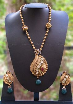 Designer Kundan, Meenakari & Pearl Necklace Set – India1001.com