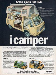 CAMPER FIAT (900T Shango - 238 Andal - 242 Kavir) - Pagina pubblicitaria – 1978