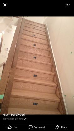 "Red oak 1 3/4"" natural hardwood stairs Hardwood Stairs, Red Oak, Flooring, Paint, Natural, Home Decor, Wooden Ladders, Red Oak Tree, Homemade Home Decor"