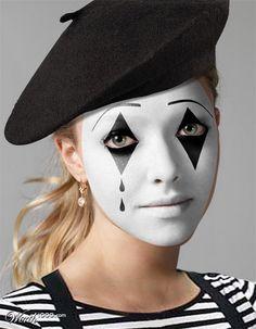 Kids mime costume Garçons français STREET CIRCUS Filles Fancy Dress Outfit Kit