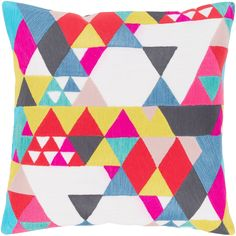 Figura Geometric Modern White Down or Poly Filled Throw Pillow 20 inch (Polyester), Size 20 x 20