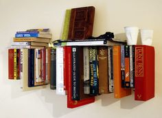 Book Bookshelf stick books for a shelf. I'm a bookworm, so this is like perfect for me. Just keep the cups off my shelves and away from my books. :)