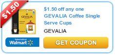 $1.50 off any one GEVALIA Coffee Single Serve Cups