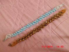 Spiral beaded bracelets