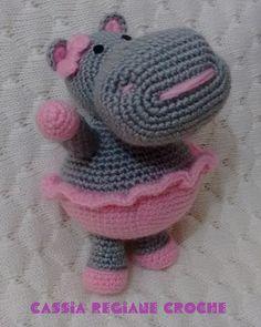 Hipopótamo ~ Bellas Artes Crochet e Cia (em espanhol - tutorial)