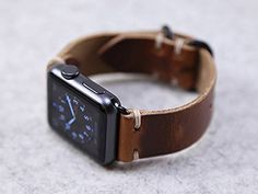 Horween Leather Apple Watch Band // English Tan Dublin Leather