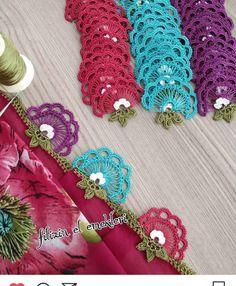 Ayşegül Hanım'ın Şahane Tığ İşi Oya Modelleri Crochet Lace, Handicraft, Needlework, Crochet Earrings, Crochet Patterns, Sewing, Knitting, Awesome, Jewelry