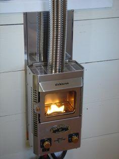 derek's tiny house heater - dickenson marine /propane