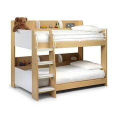 Julian Bowen Domino Bunk Bed in Maple and White kids highsleeper beds http://www.comparestoreprices.co.uk/bunk-beds/julian-bowen-domino-bunk-bed-in-maple-and-white.asp