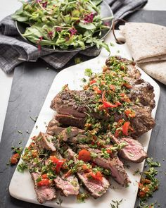 Our BBQ Herby Butterflied Leg of Lamb with PEPPADEW® Sweet Piquanté Pepper Gremolata Recipe. A delicious, easy Sunday lunch idea the whole family will love. Sunday Lunch Ideas, Gremolata Recipe, Healthy Meals, Healthy Recipes, Sunday Roast, Roasts, Lunch Recipes