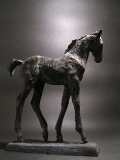 Boghemia (Bronze Frisian Foal Horse Sculptures) by Yanina Antsulevich