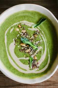 my darling lemon thyme: broccoli soup with tahini, lemon and pine nut za'atar + a trip to the Southern Forests...