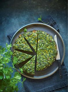 You'll go cuckoo for this striking one-pan dish inspired by a traditional Persian frittata called kuku sabzi. Iranian Cuisine, Iranian Food, Vegetarian Recipes, Cooking Recipes, Healthy Recipes, Kuku Sabzi, Kookoo Sabzi, Arabic Food, Arabic Dessert