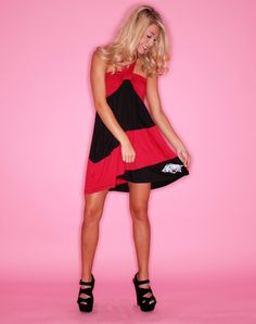 Call The Hogs Halter Dress $56