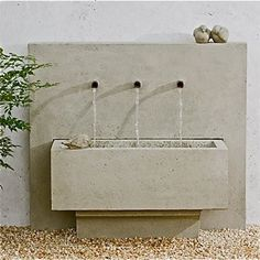 better if inserted in a stone wall. I like the simplicity of the three pipes into a plain basin. Skip the doodad animals.