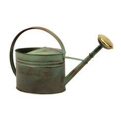IMAX Leva Oval Verdigris Watering Can in Copper