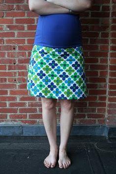 Leven met Liv: Rokje met tailleband uit tricot: tutorial zwangerschapsrokje