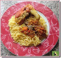 Vie quotidienne de FLaure: Cari de poulet, curcuma - gingembre, sur un lit de...