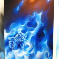I have this stencil but haven't yet mastered true fire let alone blue flames