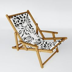 Lynx background Sling Chair by Vladimir Ceresnak - One Size Folding Stool, Butterfly Chair, Storms, Recliner, Hammock, Picnic Blanket, Solid Wood, Chairs, Relax
